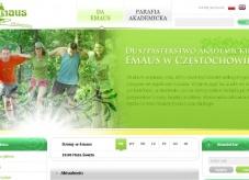 strona internetowa Duszpasterstwa Akademickiego Emaus w Częstochowie